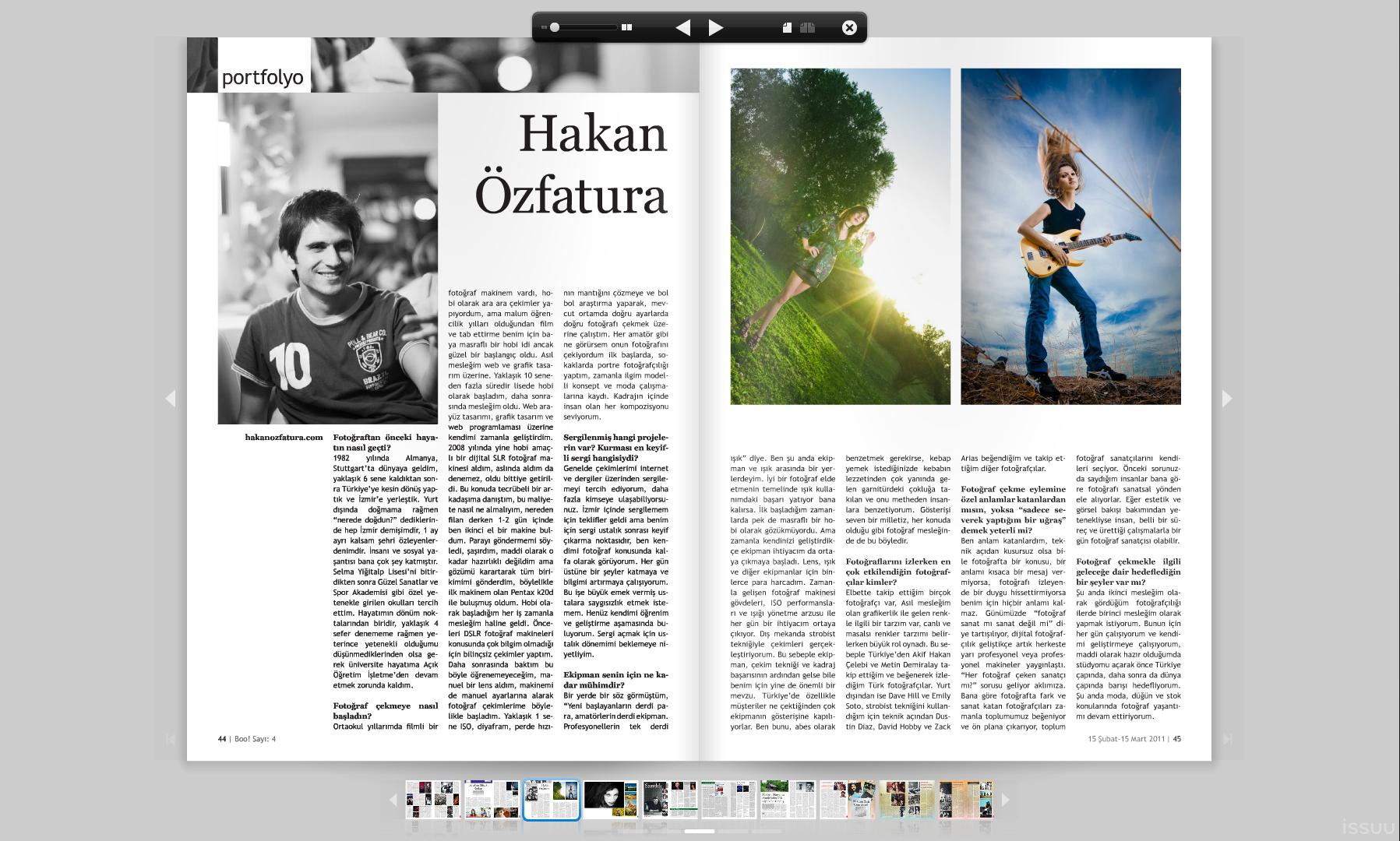Boo! Dergisinde Röportajım Yayınlandı - Mart - 2011